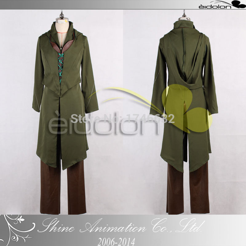Hot Movie Lord of the Rings Hobbits Tauriel Full Set Anime Uniforms Suit Hallowmas Cosplay Costume Custom Made Any Size