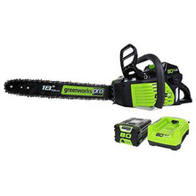 Gasoline power chain saw GreenWorks Pro GCS80420 80V 18-Inch Cordless Chainsaw, 4Ah Li-Ion Battery and Charger Included(China)