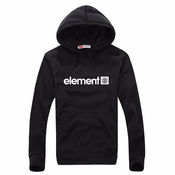 Element Print Solid Fleece Hoodies