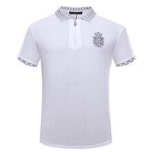 b90c530b66 Bilionário TACE   SHARK Polo Camisa dos homens curtos 2018 verão novo  comércio conforto livremente tecido