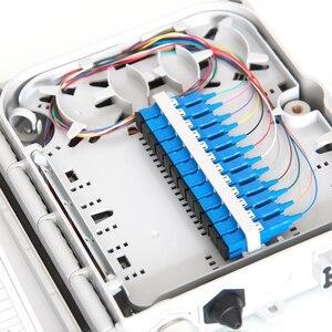 Image 4 - FTTH 12 rdzeni zakończenia pole światłowodowych FTTH pole światłowodowa skrzynka rozdzielcza z 12 sztuk adapter i warkocze
