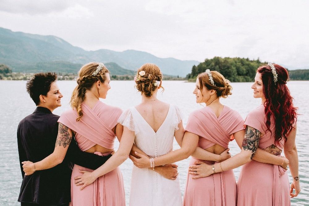 Convertible Formal Multiway Wrap Bridesmaid Dress