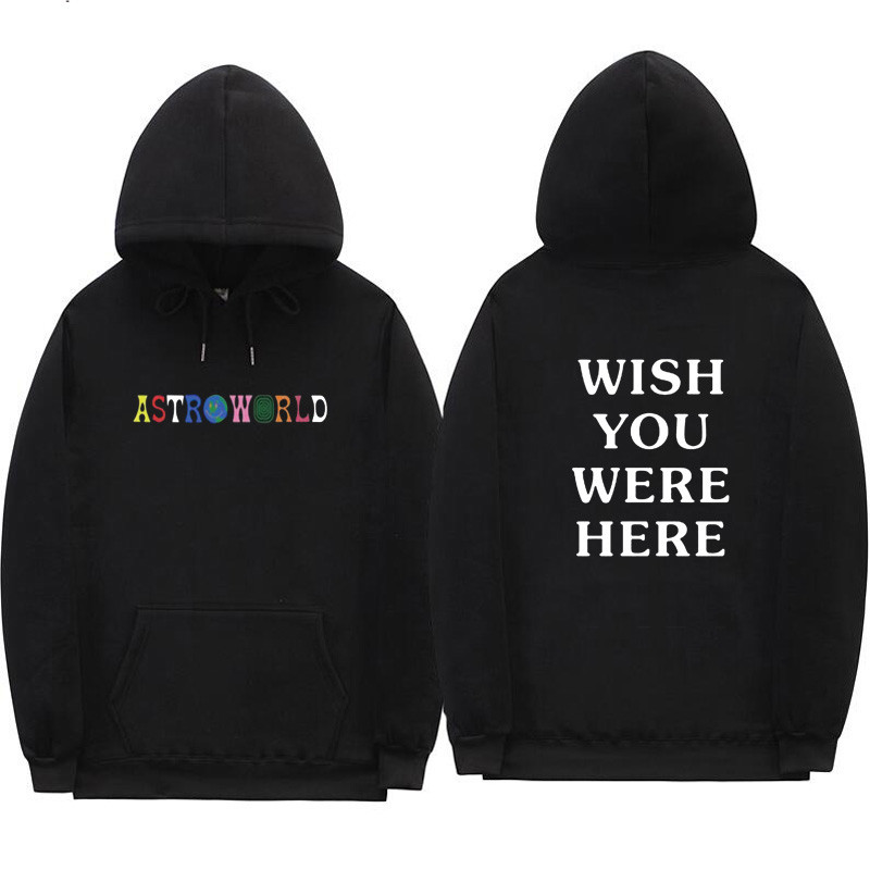 2019TRAVIS SCOTT ASTROWORLD Hope You Are Here Fashion Ladies Hip Hop Hoodie Fashion Letters ASTROWORLD HOODIE Street Men's Ladie