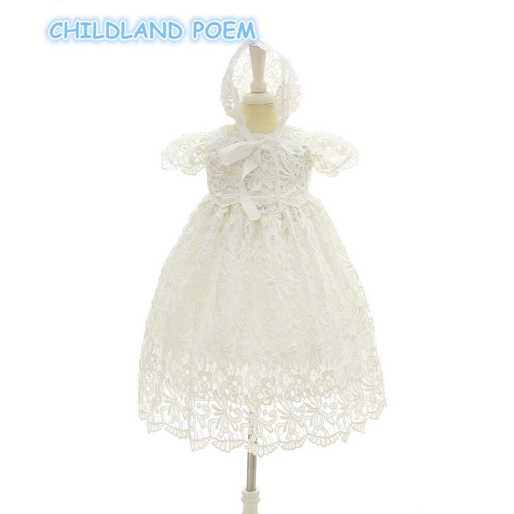 Baby taufe kleid weiß spitze neugeborenen baby taufe kleid ball ...