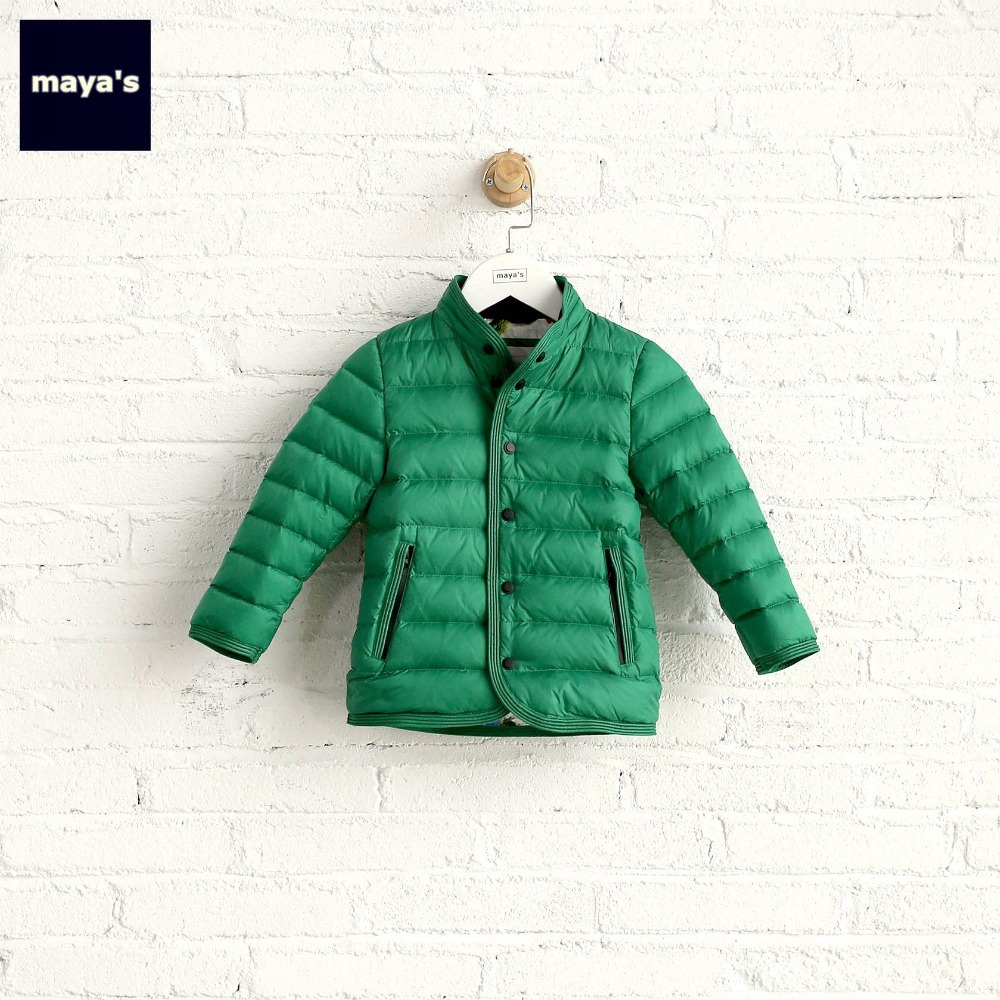 Mayas Solid Color Green Kids Winter Down Cotton Soft Breathable Jacket 90% Duck Down Toddler Fashion New Warm Outwear 75218Mayas Solid Color Green Kids Winter Down Cotton Soft Breathable Jacket 90% Duck Down Toddler Fashion New Warm Outwear 75218