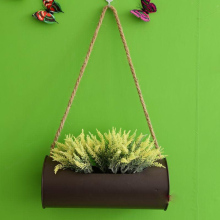 Hanging Planter Iron and Rope Modern Succulent Cactus Pots Decorative Display Flower Pot