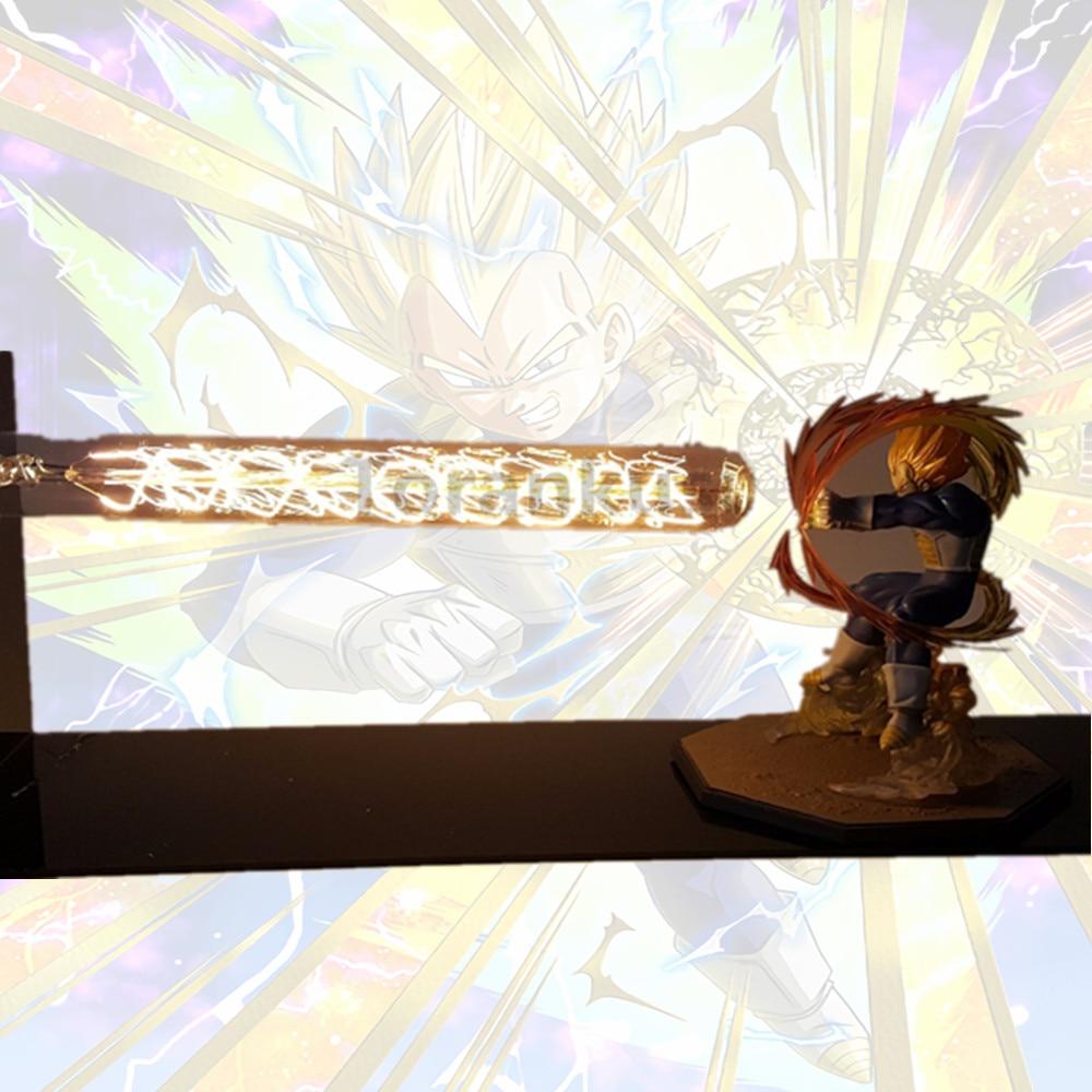 Dragon Ball Z Vegeta Super Saiyan Led Night Light Lamp Dragon Ball Lampara Son Goku Desk Lamp(China)