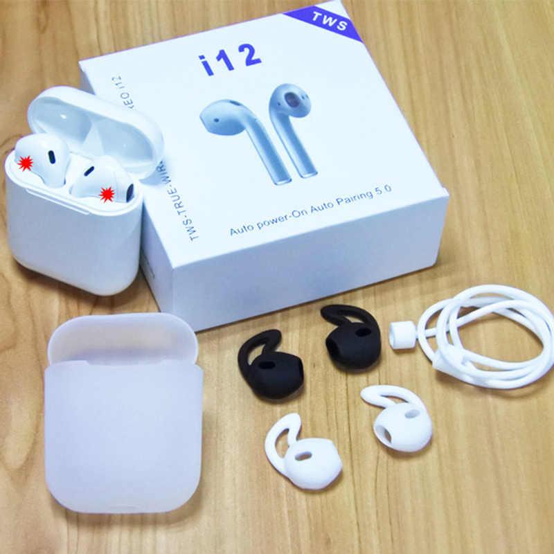 タッチコントロール i12 tws ワイヤレス Bluetooth 5.0 イヤホン 3D スーパー低音ヘッドフォン pk i10 tws i20 tws i30 i60 TWS ため xiaomi iphone
