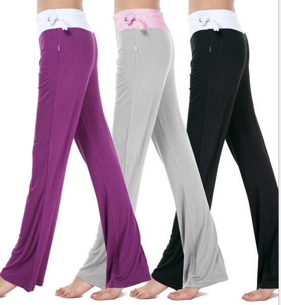 m 2xl!!!plus size women modal long loose yoga sport pants ladies