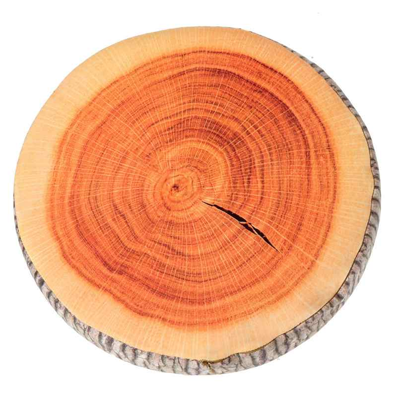 Soft Sofa Mats countryside Style Tree stump Shaped Mat for Office/Home Chair Home/Safa Decoration Pillow Useful High simulation