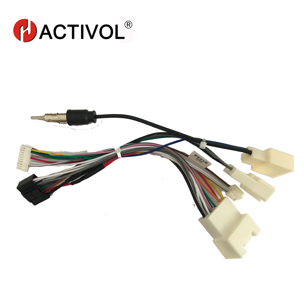 2 din car radio stereo iso plug power adapter wiring harness for toyota  prado 2010-2013 iso power harness for car dvd player