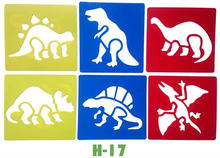 6 PCS/LOT. Dinossauro Dragão placa template stencil art Kids Early learning brinquedo educativo Party favor Auto learn14x15cm 18 projeto(China)