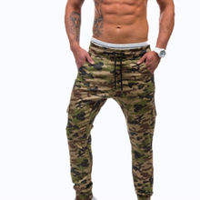 Fashion Mens Long Casual Loose Jogger Pants Military Drawstring Trousers