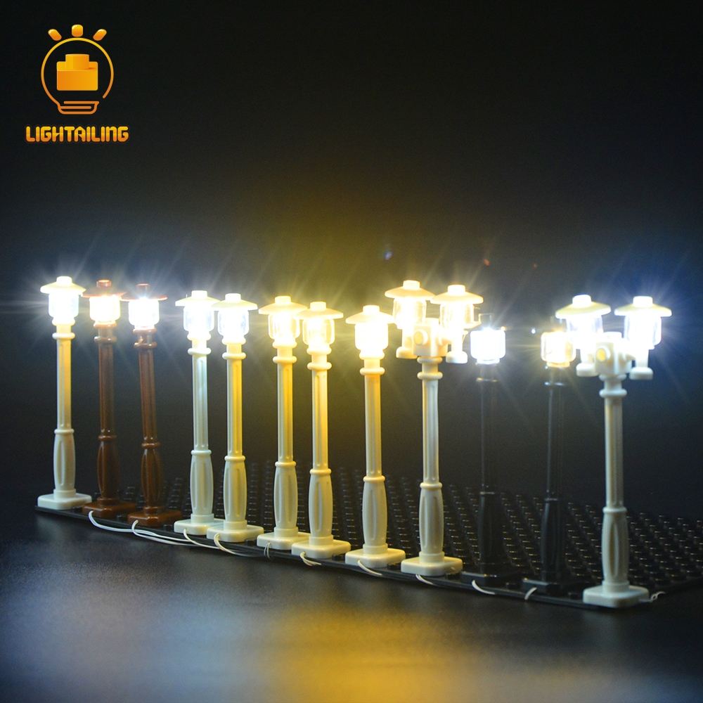 LIGHTAILING marque LED lumière bricolage réverbère pour Compatible avec la ville série construction briques ensemble de lumière jouets