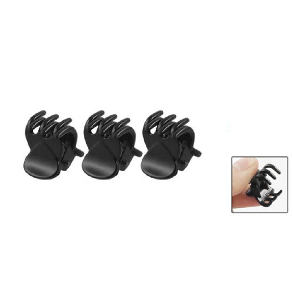 12 pcs/sets Fashion Women crab Hair claw clip Girls Black Plastic Mini Hairpin Claws Hair Clip Clamp For Women Gifts