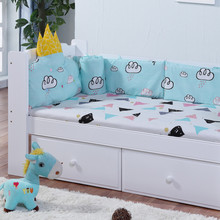 Pinlan Pure Cotton Baby Bed Guardrail Curtain An Crown Five Paper Set Baby Bed Sheet Newborn Defence Collide Bedding Article(China)