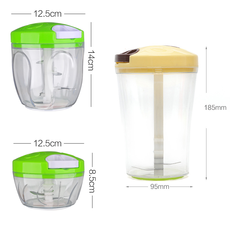 Multifunction Vegetable Chopper Stainless Steel 6 Sets Shredder Slicers Strips Device Manual Meat Grinder