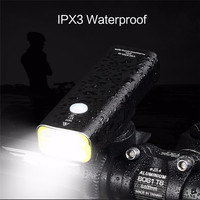 WHEEL UP Waterproof USB Rechargeable Bike Light Front Handlebar Cycling LED Light 5 Modes Flashlight Torch Bicycle Headlight