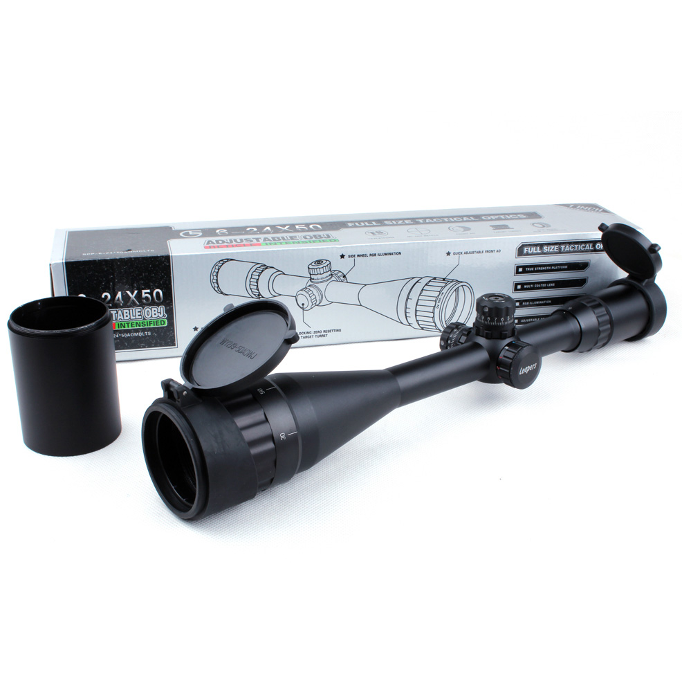 Tactical Leapers UTG 6 24X50 AOL 1 inch font b Hunting b font Riflescope Full Size
