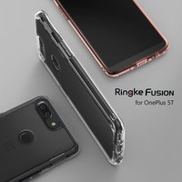 Ringke Fusion OnePlus 5 T קייס עם שקוף קשיח חזרה פנל נרתיקי מגן עבור OnePlus + רך TPU במפר כיתה צבאית 5 t