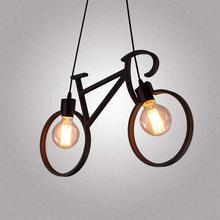 シャンデリア自転車金属錬鉄製のシャンデリアランプシェード E27 エジソン シャンデリアリビングルームカフェ寝室の装飾