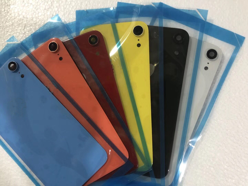 New original Back Glass Cover For iPhone XR With a collar Battery Cover Housing Case Adhesive Sticker free shipping in Mobile Phone Housings Frames from Cellphones Telecommunications