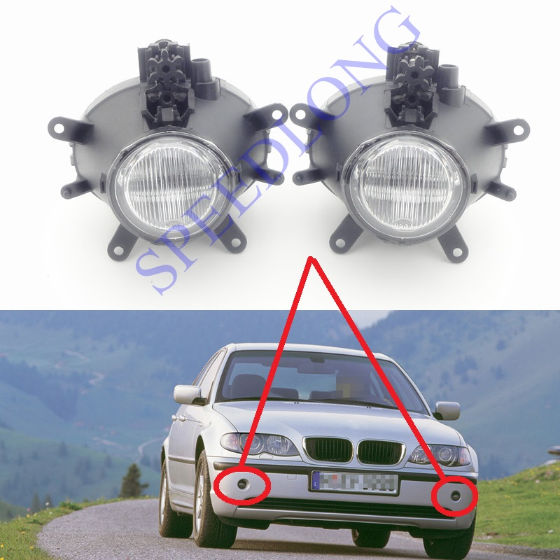 2 Pcs/Pair front fog lights fog driving lamps Without bulbs for BMW 3 Series E46 New Model 2001-2004 2pcs front bumepr corner lights lights turn signal lamps for bmw 3 series e46 2001 2004
