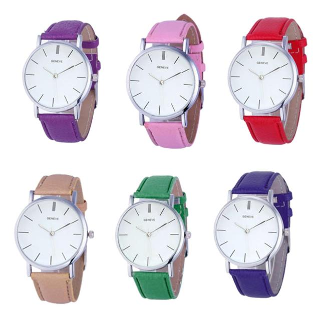 Hot Selling 2017 New Womens Retro Design Leather Band Analog Alloy Quartz Wrist Watch hot new fashion quartz watch women gift rainbow design leather band analog alloy quartz wrist watch clock relogio feminino