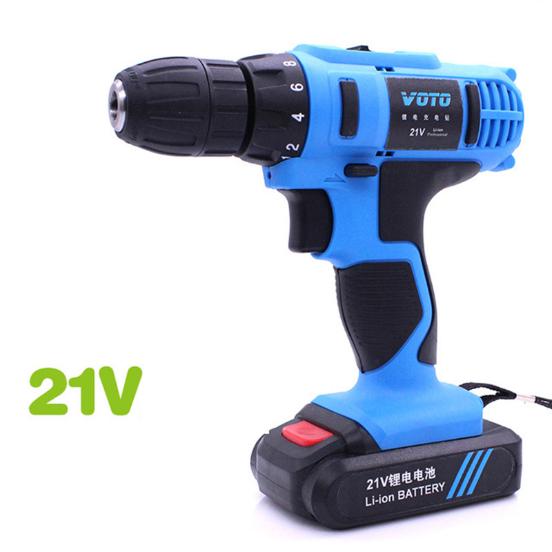 цена на 21V 680W Rechargable Electric Drill Power Supply Lithium-Ion Battery Cordless Drill/Driver Power Drill Tools Electric Drill