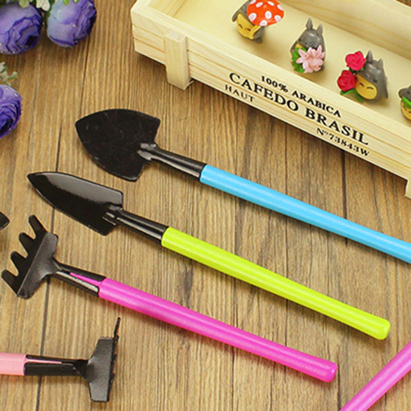 3PC Color Gardening Tools Mini Garden Accessories Tools Shovel Hoe Hoe Plant Potted Flowers Seedling Planting Tool Decoration