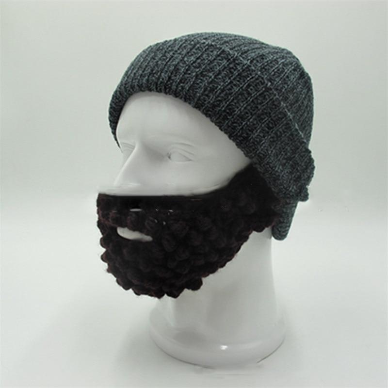 fc723a468e12a ... Handmade Crochet Winter Funny Knit Hats For Men  2017 Novelty Knitted  Warm Men Caps Soft Beanies Skull