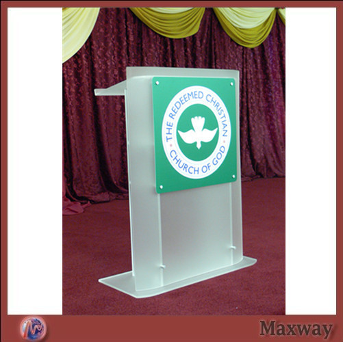 Acrylic Frosted Glass Plate With Screen Printing Lectern