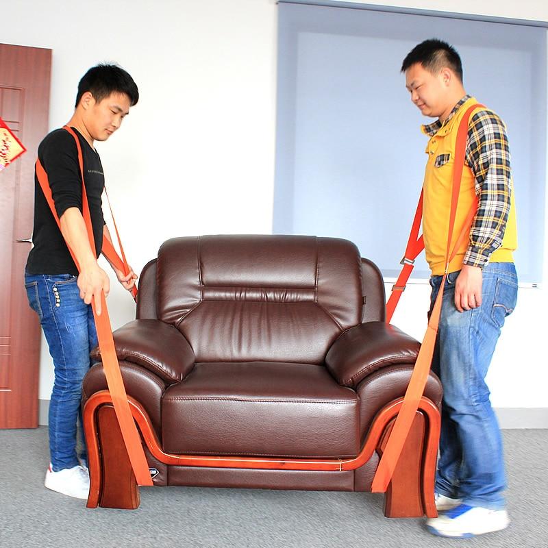 2018 New Lifting Moving Strap Furniture Transport Belt In Wrist Straps Team Straps Mover Easier Conveying Belt Orange