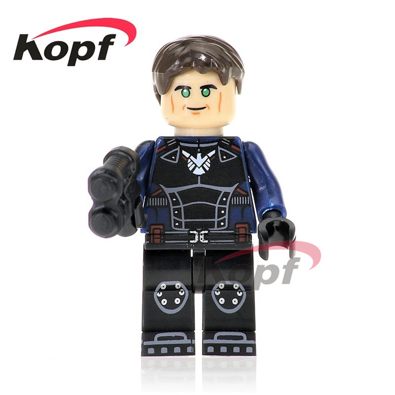 50Pcs PG238 Super Heroes Commissioner Maes Blazing Skull Invisible Woman Bricks Gift Building Blocks Education Toys for children