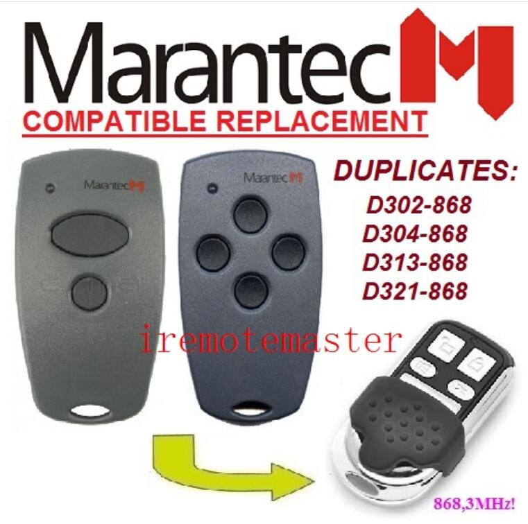 Remote Controls 2pcs Marantec D302,d304 868mhz Compatible Remote Control Duplicator Very Good