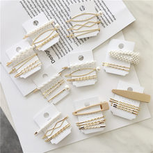 F071 3Pcs/Set Pearl Metal Hair Clip Hairband Comb Bobby Pin Barrette Hairpin Wedding Headdress Accessories Hairpins For Girls(China)