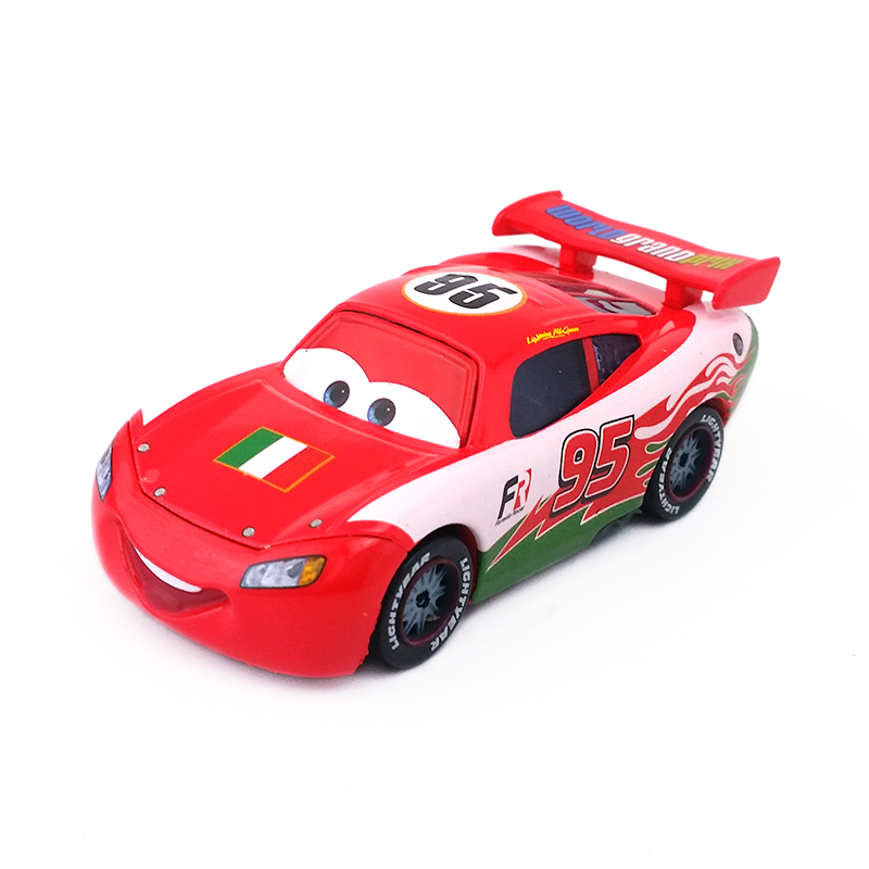 Disney Pixar Cars 1:55 No.95 Lightning Mcqueen USA Pattern Diecast Toy Car Gifts