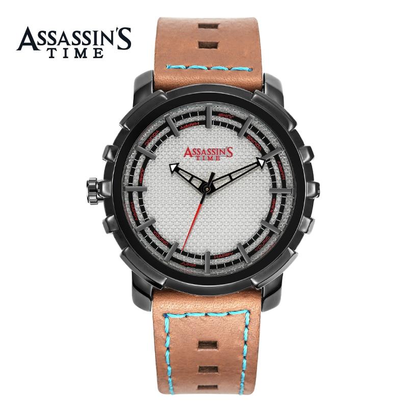 Assissan's Time ապրանքանիշ Relogio Masculino Բնական - Տղամարդկանց ժամացույցներ - Լուսանկար 2