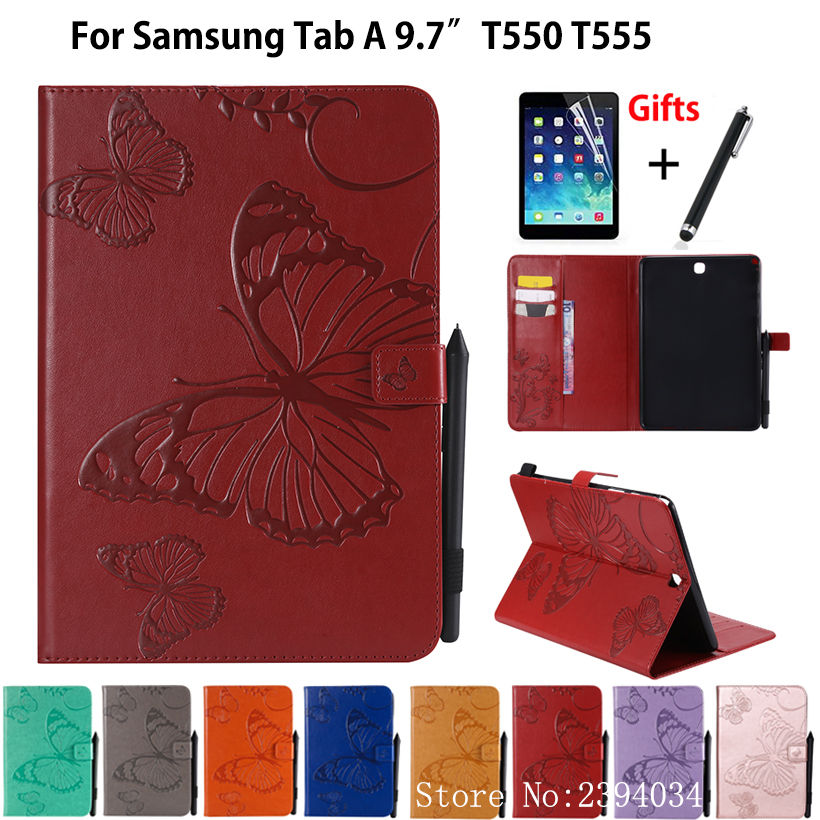 Tablet Accessories Sm-t550 Fashion Panda Pattern Case For Samsung Galaxy Tab A 9.7 Sm-t555 T550 P555 Cover Smart Case Funda Tablet Pu Stand Shell