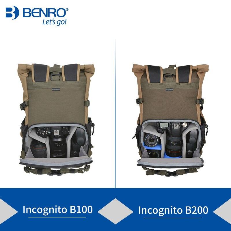 Benro incognito b100 b200 saco dslr mochila caderno sacos de vídeo foto para câmera mochila tamanho grande saco macio caso vídeo - 2