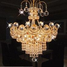 El mejor Precio De Lujo K9 Araña de Cristal Moderna Lámpara de Cristal LLEVADO Salón de Moda de Oro/de Plata de Cristal Decoración de La Iluminación