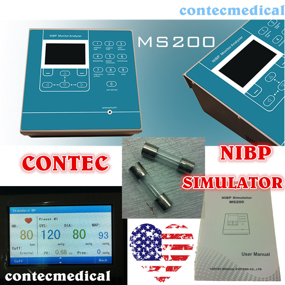 CONTEC MS200 NIBP Simulator di Pressione Sanguigna Non Invasiva di simulazione DISPLAY LCD A COLORI, Nuovo