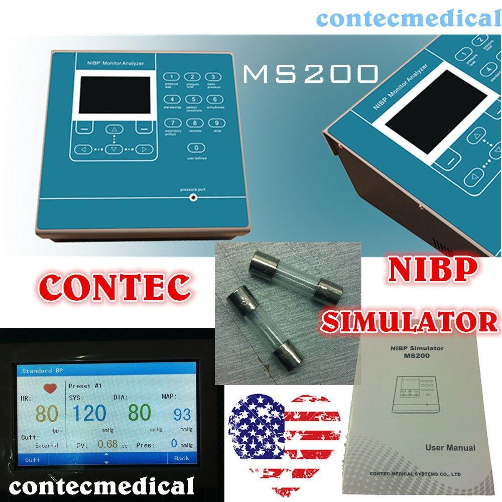 CONTEC MS200 NIBP simulateur Non invasif tension artérielle simulation couleur LCD, nouveau