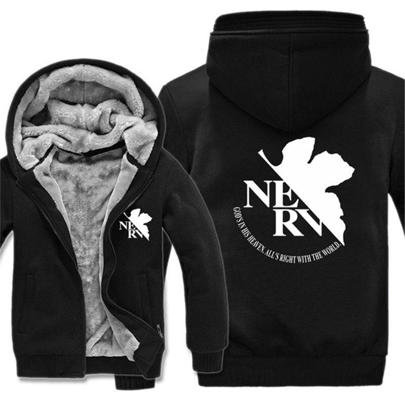 Neon Genesis Evangelion 2019 Slim Hoodies Men Sweatshirt Long Pullover Hooded Sportswear Letters Tracksuit Men/woman N3177 Men's Clothing