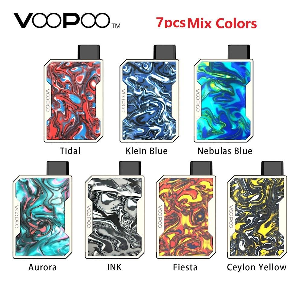 7 pièces mélange de couleurs VOOPOO glisser Nano Pod Vape Kit w/750 mAh batterie & 1 ml Pod & gène puce résine Kit Pod système vs glisser 2/Minifit
