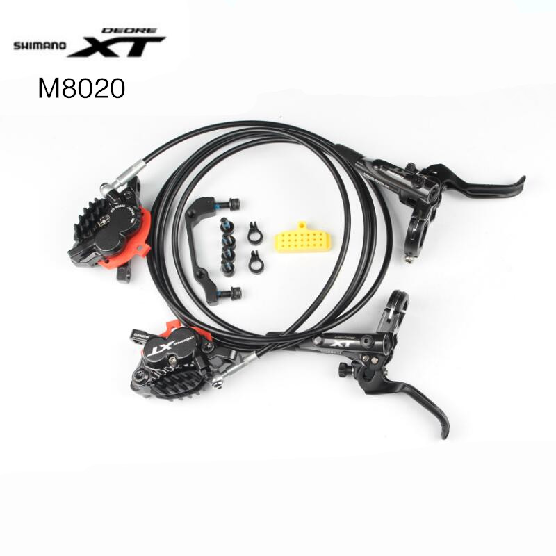 <font><b>Shimano</b></font> Deore <font><b>XT</b></font> BR-<font><b>M8020</b></font> 4 Piston <font><b>Brake</b></font> MTB Mountain Disc <font><b>Brakes</b></font> Hydraulic Front & Rear Set <font><b>M8020</b></font> <font><b>brake</b></font> Better than M8000 image