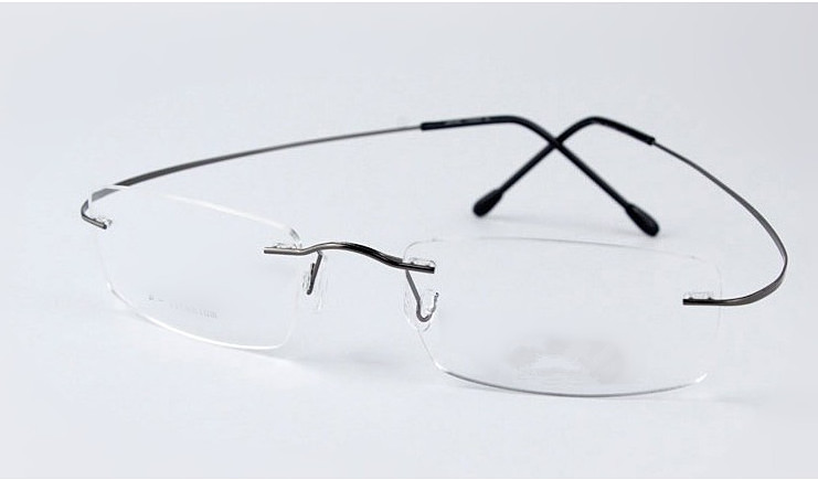 d93b8492d5 Silhouette Ultra-light rimless Optical frame men women titanium eyewear  frame eyeglasses black silver grey gold go with original case