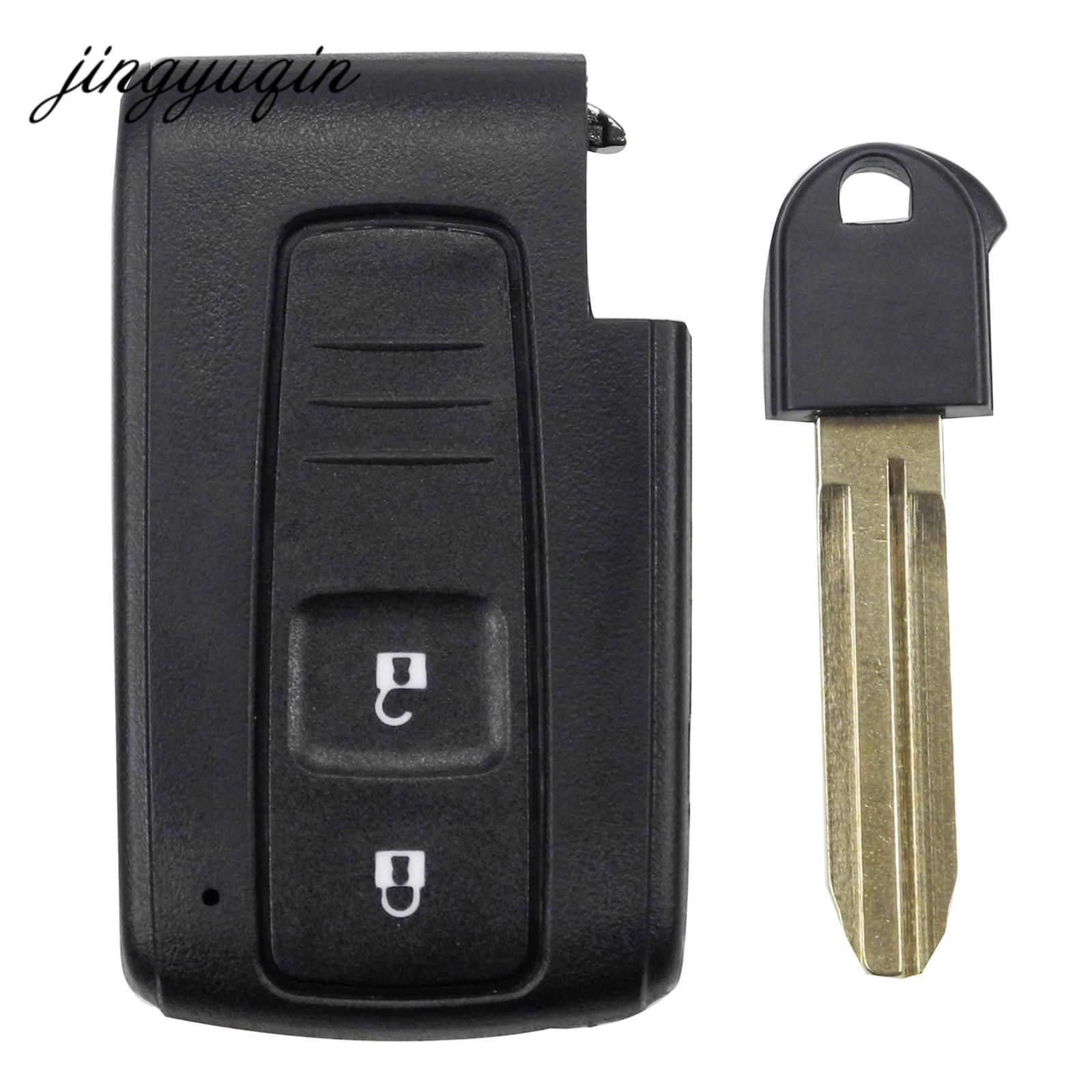 Jingyuqin 2 Bouton Intelligent À Distance Key Case pour Toyota Prius Corolla Verso + TOY43 Insérer la Lame de Clé