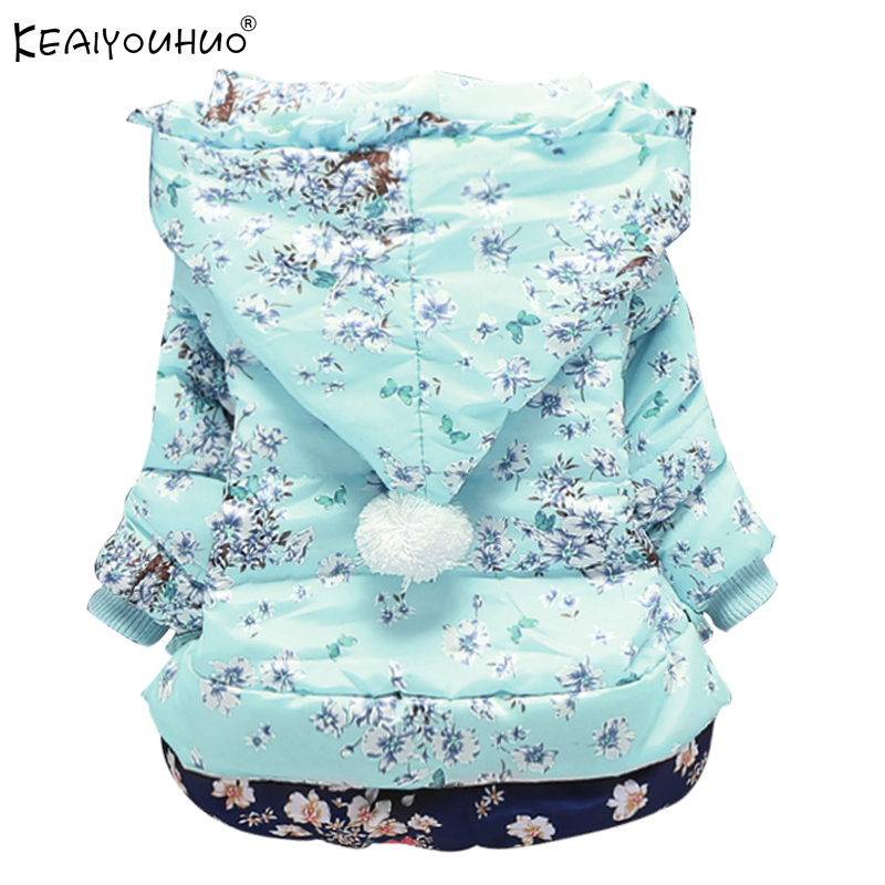 KEAIYOUHUO 2017 Jackets For Girls Coats Print Winter Warm Baby Girls Down Jacket Children Clothing Cotton Hooded Kids Outerwear fashion girl thicken snowsuit winter jackets for girls children down coats outerwear warm hooded clothes big kids clothing gh236