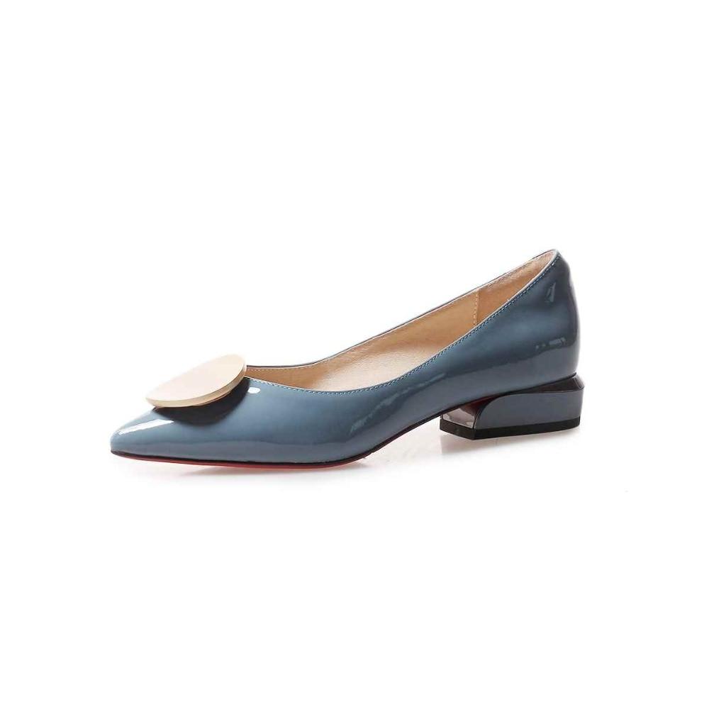 Krazing وعاء 2019 جلد طبيعي الشارع الشهير زلة على أشار تو كعب منخفض جولة مشبك الفاخرة مضخات للنساء أكسفورد الأحذية l1f3-في أحذية نسائية من أحذية على  مجموعة 3